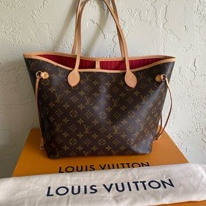 🍒😍Louis Vuitton neverfull mm Cerise Red😍🍒